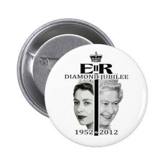 Jubileo de diamante pin redondo 5 cm