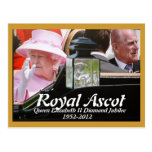 Jubileo de diamante real del Queens del Ascot Tarjetas Postales