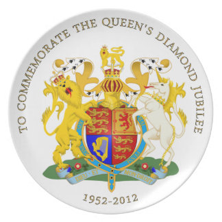Jubileo de diamante Reino Unido Platos Para Fiestas
