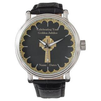 Jubileo de oro del sacerdote personalizado relojes de mano