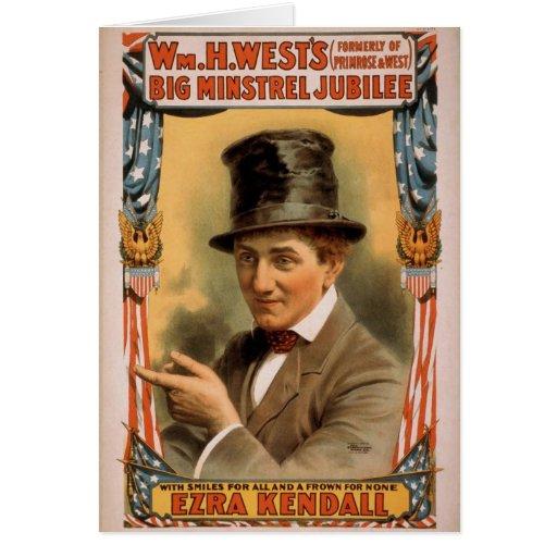 Jubileo grande del trovador de Wm.H.West, 'Ezra Ke Tarjeta De Felicitación