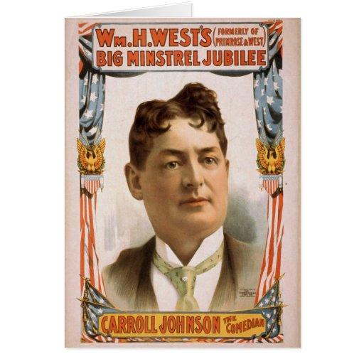 Jubileo grande del trovador de Wm.H.West Felicitación