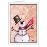 Júbilo del muñeco de nieve, por LeAnne Iverson-Wil Tarjetón