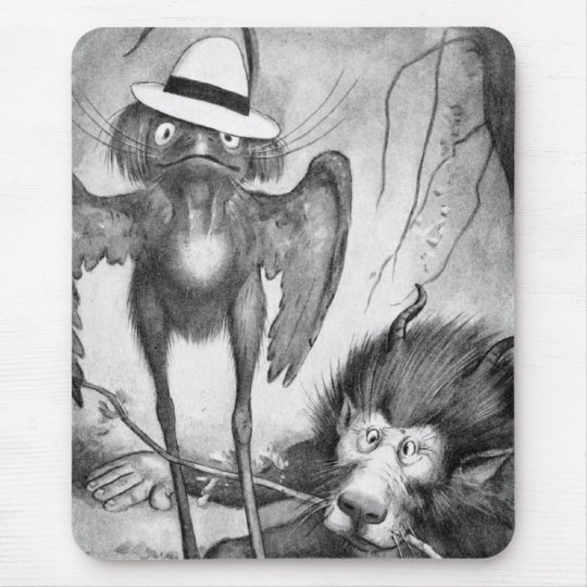 Jubjub Bird and the Bandersnatch Mouse Pad