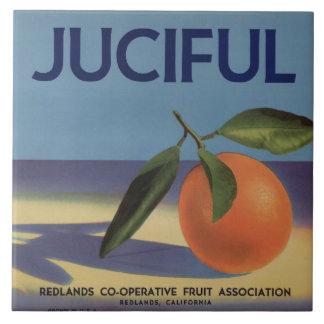 Juciful Orange Crate Label Tile