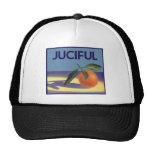 Juciful Oranges, Vintage Fruit Crate Label Art Mesh Hat
