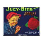 Jucy Bite Apple Crate LabelYakima, WA Canvas Print