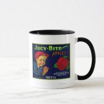 Jucy Bite Apple Crate LabelYakima, WA Mug