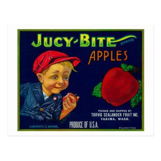 Jucy Bite Apple Crate LabelYakima, WA Post Cards