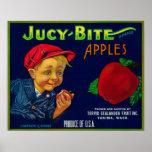 Jucy Bite Apple Crate LabelYakima, WA Poster