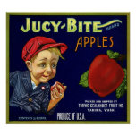 JUCY BITE APPLES POSTER