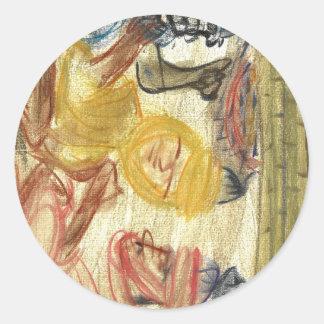 Judah de Mediterrania Round Stickers