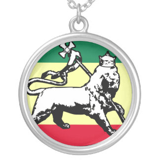 Judah Lion, Estonia flag Silver Plated Necklace