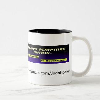 Judah's Scripture Shirts Two-Tone Coffee Mug