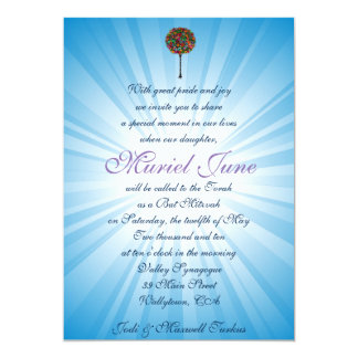 JUDAIC HAMSA BAT BAR MITZVAH INVITATION