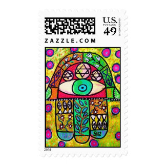 Judaic Stamp - Garden Oasis Hamsa