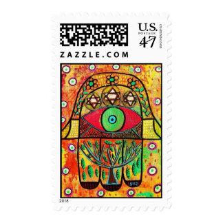 Judaic Stamp - Tree Of Life Hamsa