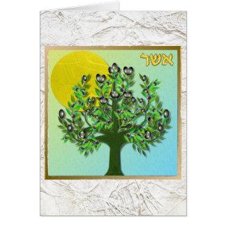Judaica 12 Tribes Israel Asher Card