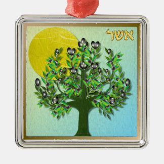 Judaica 12 Tribes Israel Asher Metal Ornament