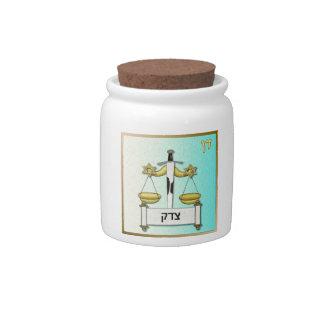Judaica 12 Tribes Israel Dan Art Candy Jar
