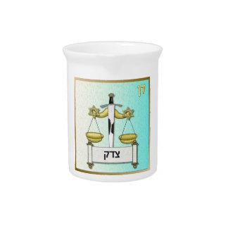 Judaica 12 Tribes Israel Dan Art Drink Pitcher