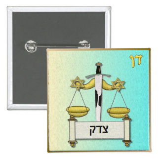 Judaica 12 Tribes Israel Dan Pinback Button