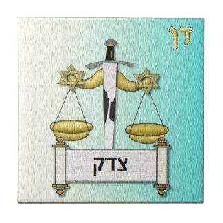 Judaica 12 Tribes Israel Dan Small Square Tile