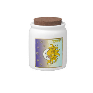 Judaica 12 Tribes Israel Issachar Art Candy Jars