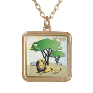 Judaica 12 Tribes Israel Judah Gold Plated Necklace