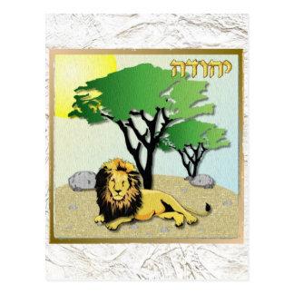Judaica 12 Tribes Israel Judah Postcard