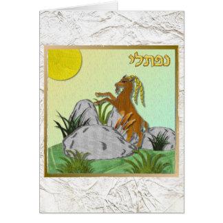 Judaica 12 Tribes Israel Naphtali Greeting Card