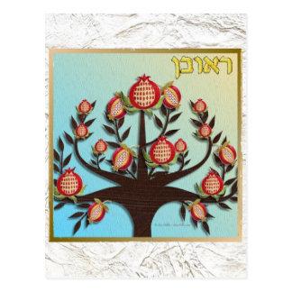 Judaica 12 Tribes Israel Reuben Postcard
