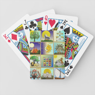 Judaica 12 Tribes of Israel Art Bicycle Playing Cards