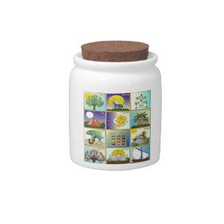 Judaica 12 Tribes of Israel Art Candy Jars