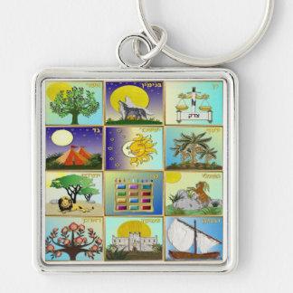 Judaica 12 Tribes of Israel Art Keychains