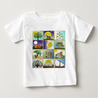 Judaica 12 Tribes Of Israel Art Panels Baby T-Shirt