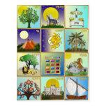 Judaica 12 Tribes of Israel Art Postcard
