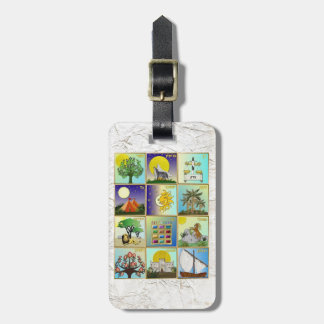 Judaica 12 Tribes Of Israel Art Print Bag Tag