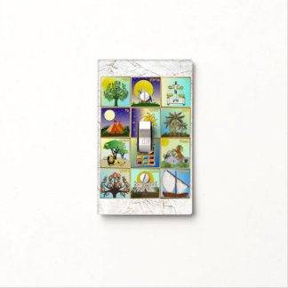 Judaica 12 Tribes Of Israel Art Print Light Switch Cover