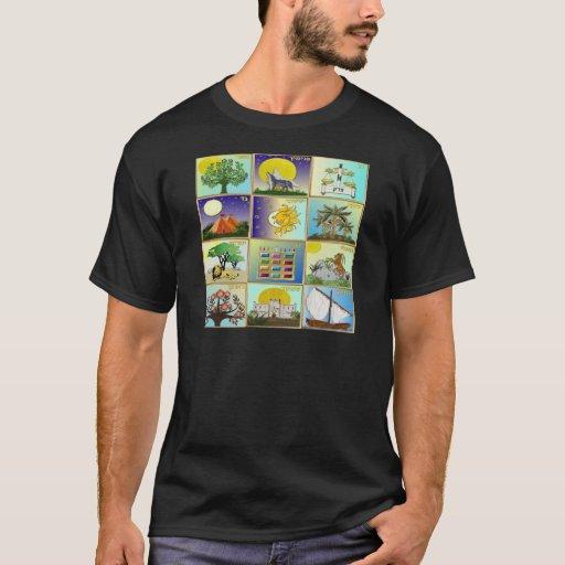 Judaica 12 Tribes of Israel Art T-Shirt