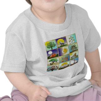 Judaica 12 Tribes of Israel Art T Shirt