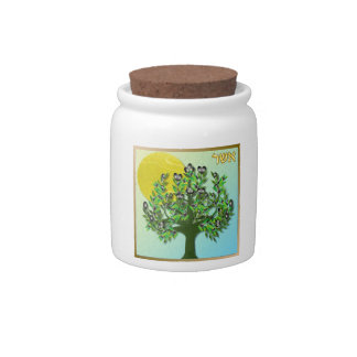 Judaica 12 Tribes Of Israel Asher Candy Jars