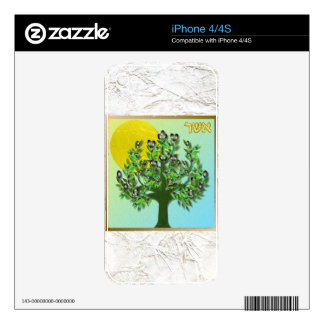 Judaica 12 Tribes Of Israel Asher Skins For iPhone 4S
