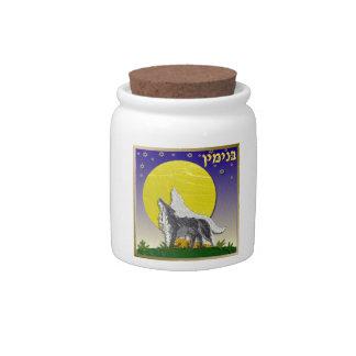 Judaica 12 Tribes Of Israel Benjamin Candy Jars