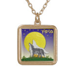 Judaica 12 Tribes Of Israel Benjamin Square Pendant Necklace