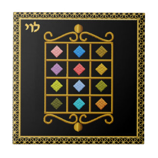 Judaica 12 Tribes of Israel Ceramic Tile - Levi