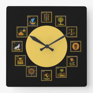Judaica 12 Tribes of Israel Clock