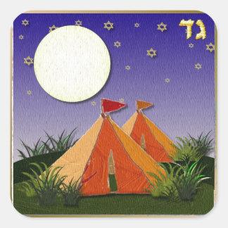 Judaica 12 Tribes Of Israel Gad Square Sticker