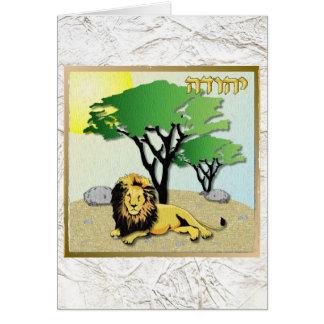 Judaica 12 Tribes Of Israel Judah Greeting Card