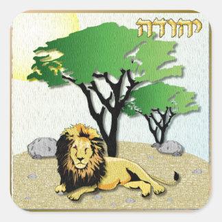 Judaica 12 Tribes Of Israel Judah Square Sticker